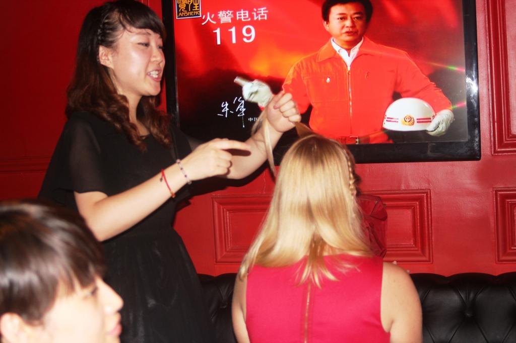 KTV - having my hair done.