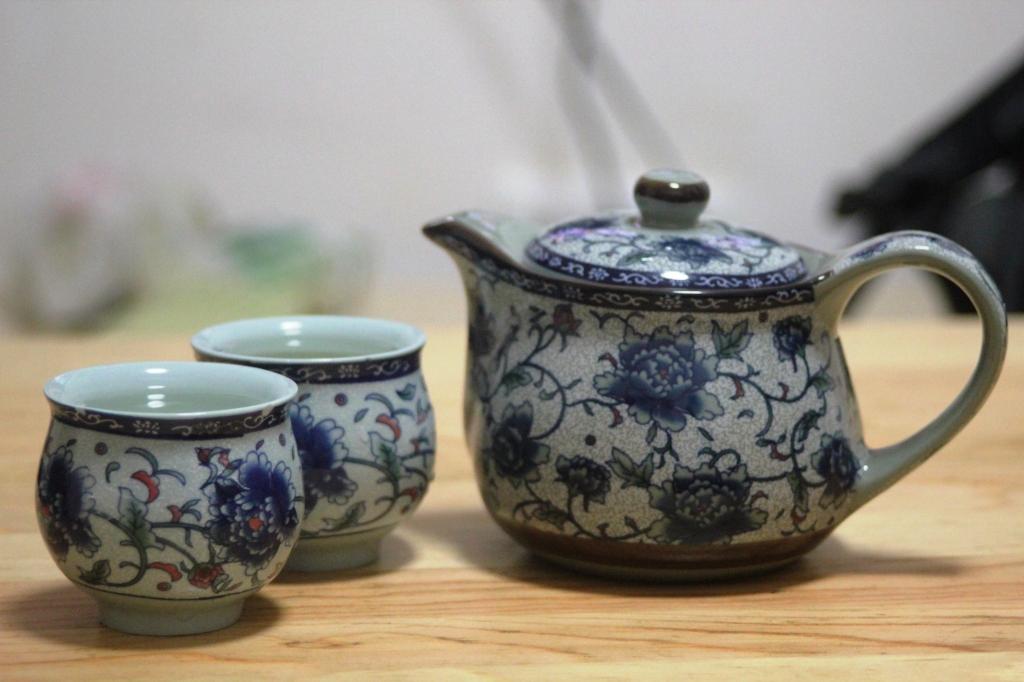 We had some oolong tea. Very very nice.
