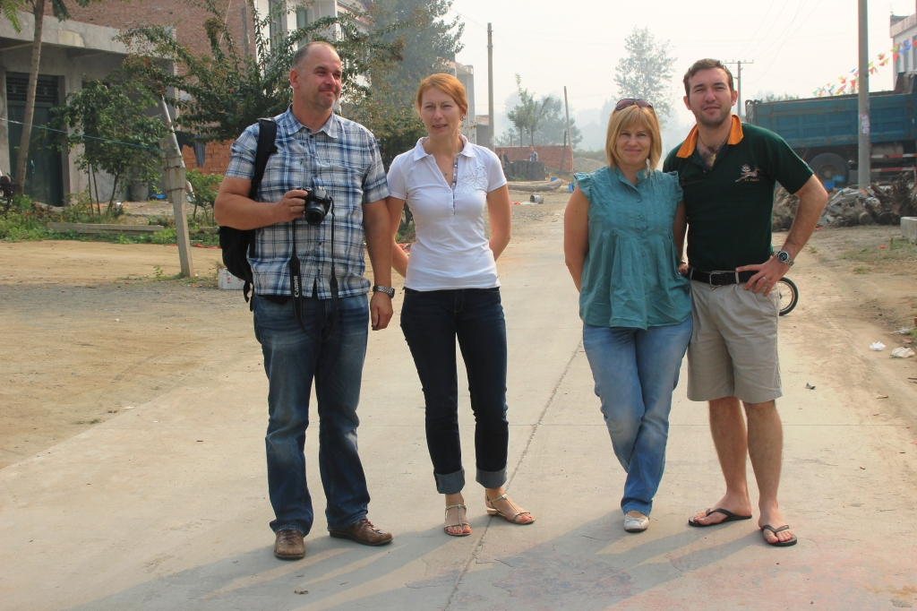 Estonians + one Zimbabwean in the middle of nowhere in China.