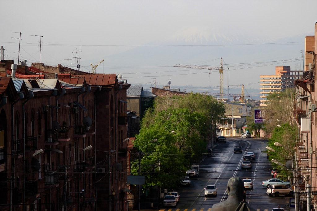 If you squint your eyes hard enough you can just make out mount Ararat in the distance.