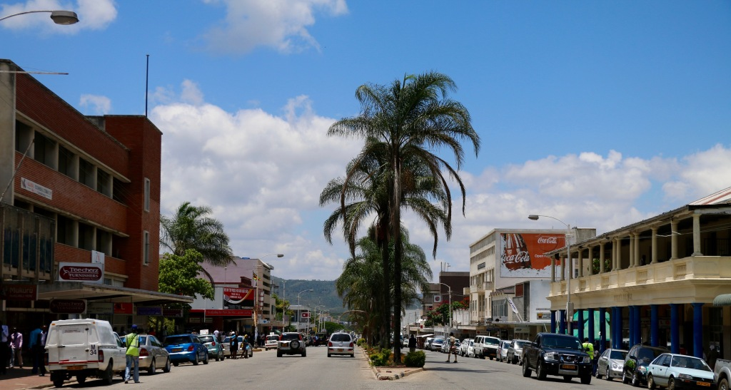 A view of one of the main streets of Mutare.